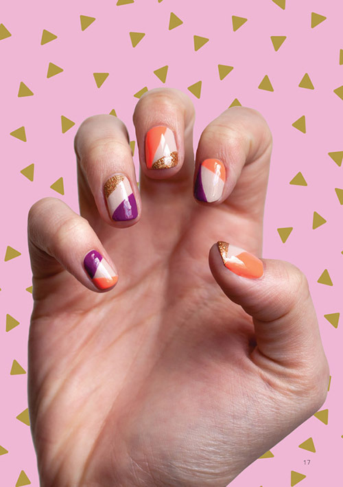 colorblock_glitter_geometric_nails