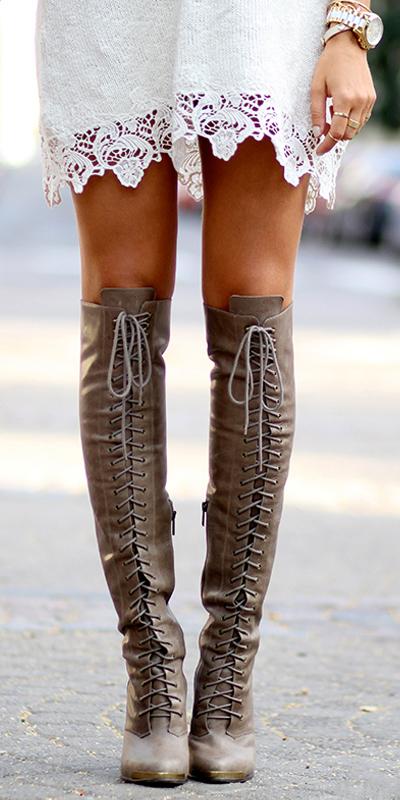 Fall inspiration tall boots oh mai darling