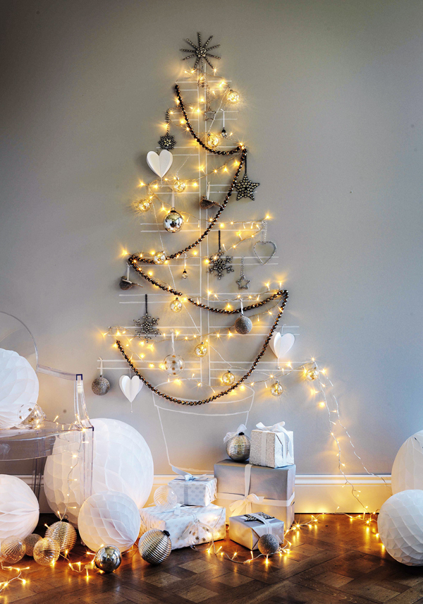 Love these alternative ideas to the traditional christmas tree they