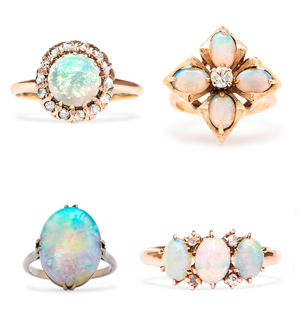 Trumpet_and_Horn_antique_opal_engagement_rings